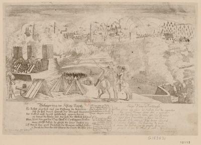 Belagerung der Festung Maÿntz es kostet warlich viel ein Festung zu foreiren, biss sie sich durch Gewalt zur übergab beqwemt... : [estampe]