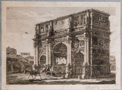Arco di Costantino, veduta di 3/4 da sud-est