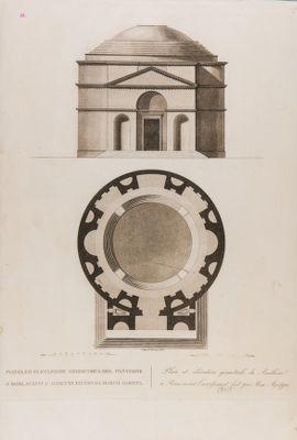 Pianta ed elevazione geometrica del Pantheon a Roma