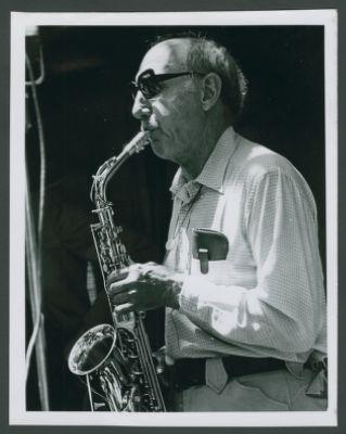 Bob Helm playing alto sax