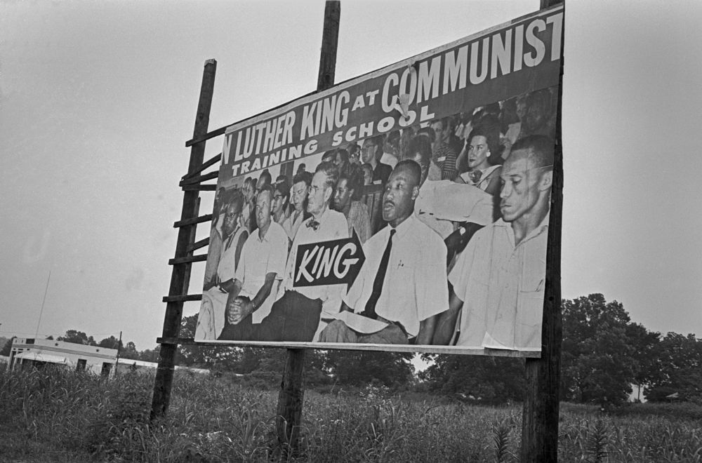 Billboard with supposed pix of MLK