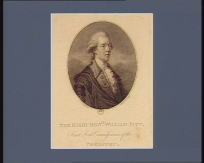 The  Right hon.le William Pitt first Lord commissioner of the Treasury : [estampe]