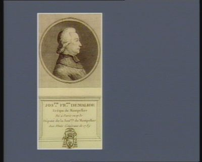 Jos.ph Fr.ois Demalide evêque de Montpellier né à Paris en 1730 député de la sen.sée de Montpellier aux Etats généraux de 1789 : [estampe]