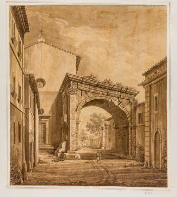 Arco di Gallieno, veduta