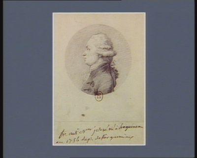 Fr. Ant.e N.as Jersé né à Hagueneau en 1754 dep. de Sarguemines : [dessin]