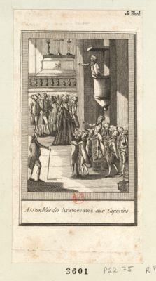 Assemblée des aristocrates aux Capucins [estampe]