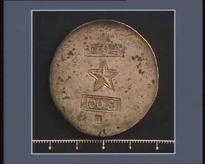 [Monnaie obsidionale de Maëstricht : cent stüber] 100 ST ; LE