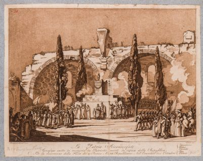 Basilica di Costantino, cerimonia della Repubblica tenuta nel Foro