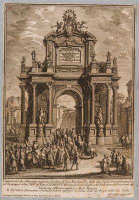 Arco di Tito come sfondo ad un arco trionfale posticcio