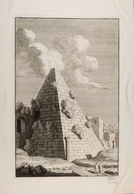 Piramide di Caio Cestio, veduta generale dall'interno delle mura