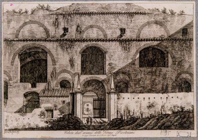 Veduta degli avanzi delle Terme Diocleziani