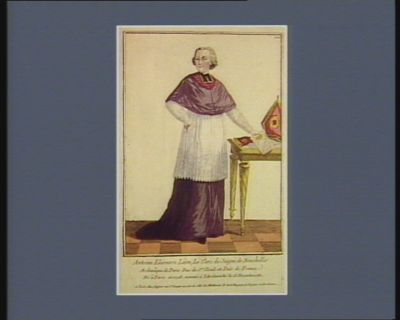 Antoine Eléonore Léon Le Clerc de Juigné de Neuchelles archevêque de Paris, duc de St Cloud et pair de <em>France</em>. Né à Paris en 1728. nommé à l'Archeveché le 23 decembre 1781 : [estampe]