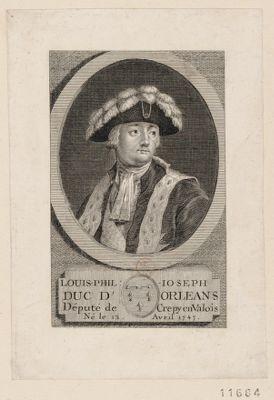 Louis-Phil. Joseph duc d'Orléans député de Crépy en Valois, né le 13 avril 1747 [estampe]