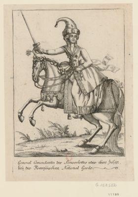 General Comendantin der sans culottes oder ohne Hosen bey der Franzöischen National Garde [estampe]