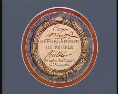 Convention nationale de <em>France</em> l'an III de la Rep.que fran.se citoyen [...] représentant du peuple [...] membre du Comité d'inspection : [estampe]