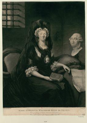 Marie Antoinette d'Autriche reine de France vous qui fixez ces traits et du coeur et des yeux. Osez en les voyant vous trouver malheureux : [estampe]