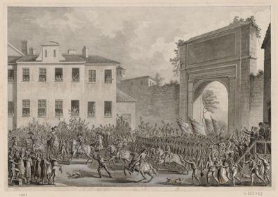 [Entrée des troupes françaises dans Milan] [estampe]