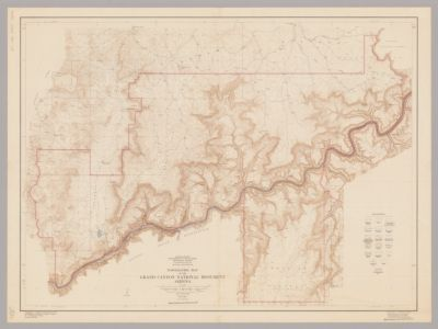 Topographic map of the Grand Canyon National Park, Arizona ...