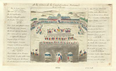A la gloire <em>de</em> la Confederation nationale du 14 juillet 1790 [estampe]
