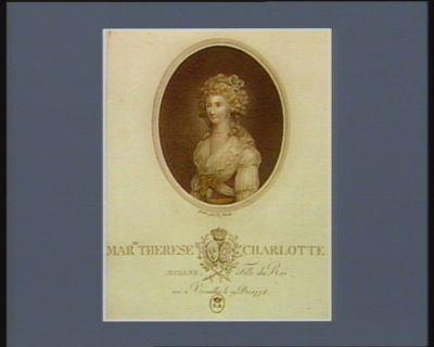 Mar.ie Therese Charlotte Madame fille du Roi, née à Versailles le 19 déc. 1778 : [estampe]