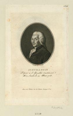 J. I. Guillotin député à l'Assemblée constituante, né à Saintes le 29 mars 1738 : [estampe]