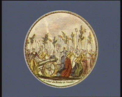 Le  Retour des héroïne à <em>Versailles</em> [estampe]