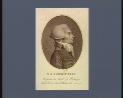 M.J. Roberspierre député du dép.t de Paris à la Convention nationale en 1792 : [estampe]