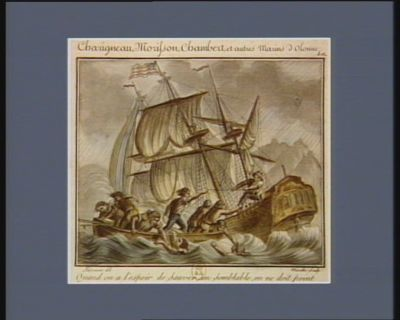Charigneau, Morisson, Chambert, et autres marins d'Olonne quand on a l'espoir de sauver son semblable,on ne doit point craindre le danger. Le 2 b rumaire an III : [estampe]