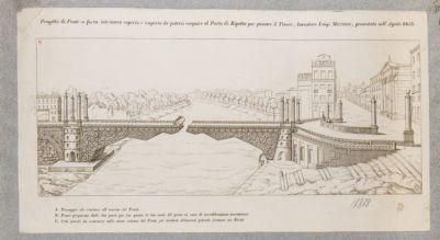 Tevere, progetto di ponte snodato da adattarsi al porto di Ripetta