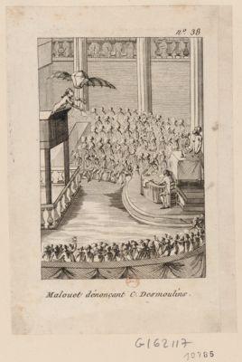 Malouet dénonçant C. Desmoulins [estampe]