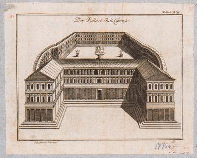 Palatino, ricostruzione fantastica di un palazzo imperiale