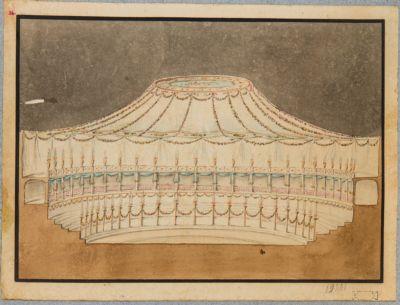 Mausoleo d'Augusto ridotto ad anfiteatro, progetto di addobbo e decorazione