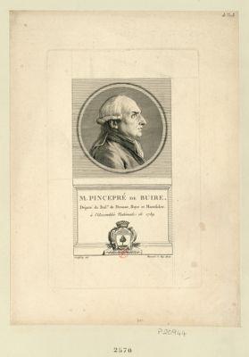 M. Pincepré de Buire député du bail. de Péronne, Roye et Montdidier à l'Assemblée nationale de 1789 : [estampe]