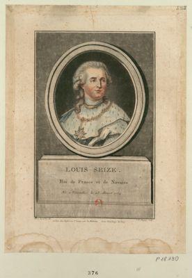 Louis seize. Roi de France et de Navarre né <em>à</em> Versailles le 23 aoust 1754 : [estampe]