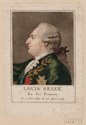 Louis seize, Roi des Francois né a Versailles le 23 aoust 1754 : [estampe]