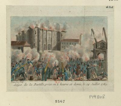 Siège de la Bastille, prise en 2 heures et demie, le 14 juillet 1789 [estampe]