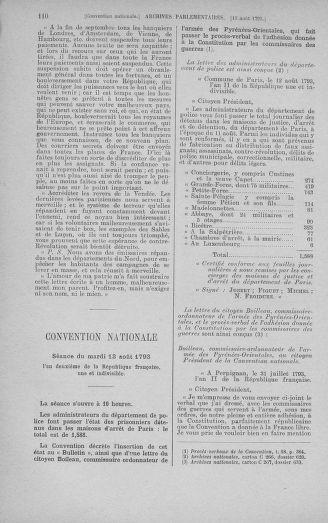 Tome 72 : Du 11 au 24 août 1793 - page 110