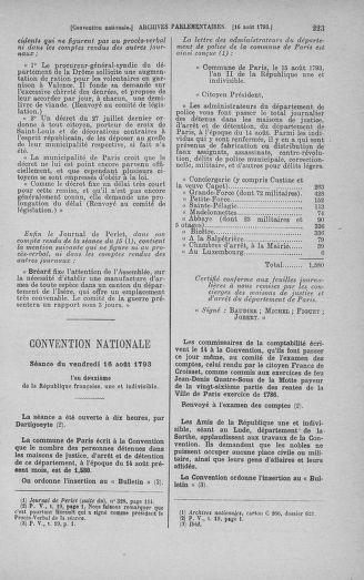 Tome 72 : Du 11 au 24 août 1793 - page 223