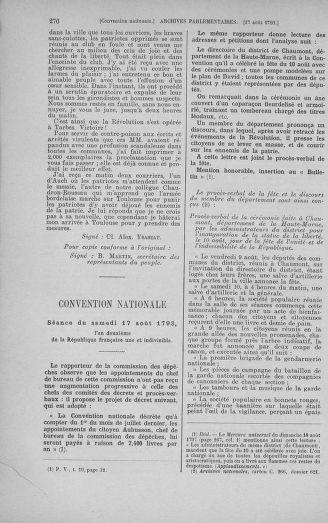 Tome 72 : Du 11 au 24 août 1793 - page 276