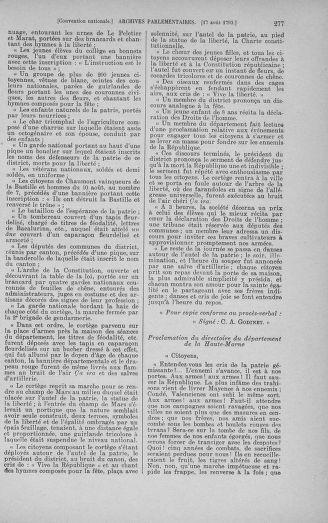 Tome 72 : Du 11 au 24 août 1793 - page 277