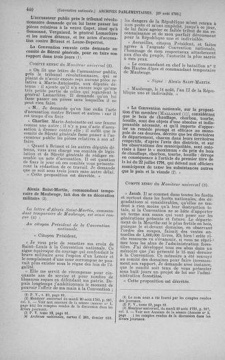 Tome 72 : Du 11 au 24 août 1793 - page 440