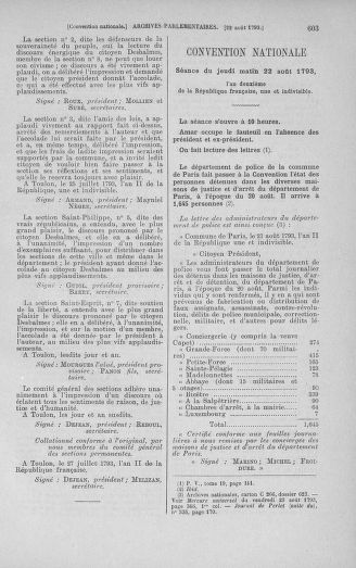Tome 72 : Du 11 au 24 août 1793 - page 603