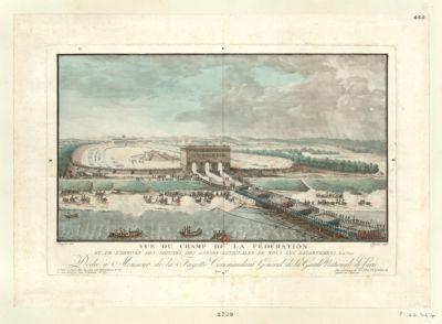 Vue du Champ de la Fédération et de l'arrivée des députés des Gardes nationales de tous les departemens le 14 j.et 1790 [estampe]