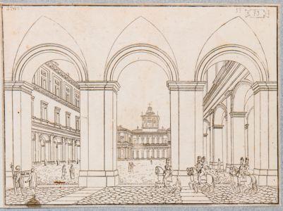 Palazzo del Quirinale. Interno, veduta generale del cortile