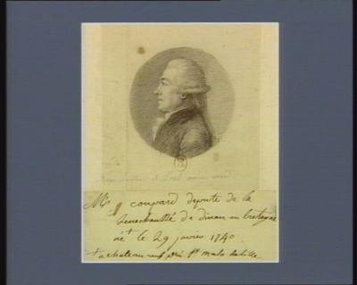 M. Coupard député de la sénéchaussée de Dinan en Bretagne, né à Chateauneuf près St Malo de Lille le 29 janvier 1740 : [dessin]