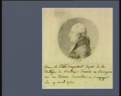 Edme le Bascle d'Argenteuil député de la noblesse du baillage d'Auxois en Bourgogne, né au chateau Courcelles en Bourgogne le 19 avril 1721 : [dessin]