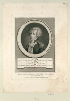 M.P.J.R.Y. Gilbert Mottier de La Fayette député d'Auvergne, élu command.t général de la Garde nationale parisienne le 15 j.et <em>1790</em> : [estampe]