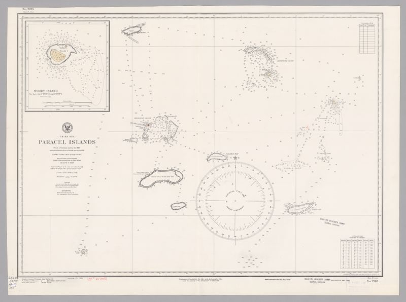 China Sea : Paracel Islands, from a German survey in 1883 with amendments from a British survey in 1925