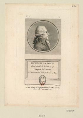Etienne La Rade né à Alsth le 6 juin 1729 député de Limoux à l'Assemblée nationale de 1789 : [estampe]