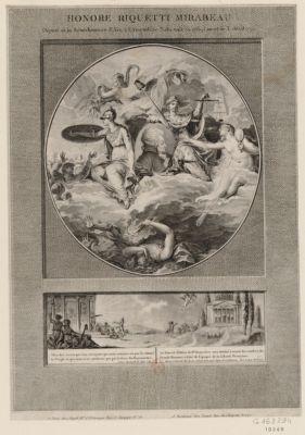 Honoré Riquetti Mirabeau deputé de la senechaussée d'Aix <em>à</em> l'Assemblée nationale en 1789, mort le 3 avril 1791. Allez dire <em>à</em> ceux qui vous envoyent... : [estampe]